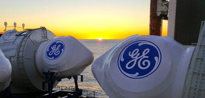 Nacelles for offshore wind turbines onboard the Brave Tern en route to Deepwater Wind's development off Rhode Island. Fred Olsen Windcarrier photo.