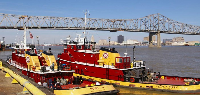 Assist boat tugs on standby at the Port of Greater Baton Rouge. Port of Greater Baton Rouge photo.