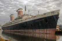 The SS United States at Philadelphia. SS United States Conservancy photo.