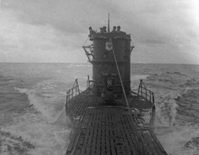 U-576 at sea. Photo courtesy Ed Caram Collection.