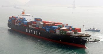 A Hanjin containership. Hanjin photo.