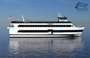 Teknicraft Design 500-passenger vessel for Argosy Cruises.
