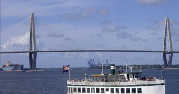 The Carolina Belle touring Charleston Harbor. Plans to deepen the harbor could be in jeopardy if the 2016 Water Resources Development Act does not pass. Creative Commons photo by Ron Cogswell.