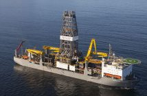 Transocean's Deepwater Champion is among the vessels currently cold stacked off Trinidad & Tobago. Transocean photo.