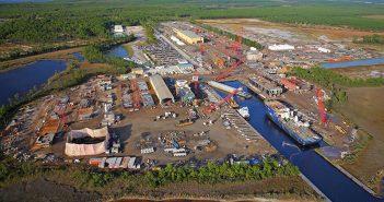 Eastern Shipbuilding's Allanton Road shipyard in Panama City, Fla. Eastern Shipbuilding photo.