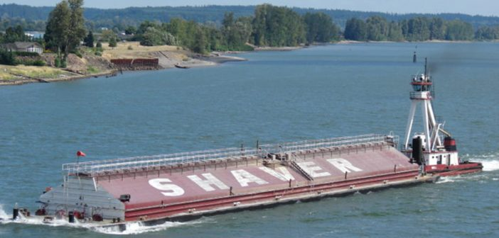A Zidell-built barge for Shaver Transportation Company. Shaver photo.