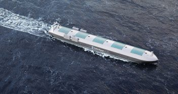 A Rolls-Royce rendering of an autonomous ship. Rolls-Royce photo.