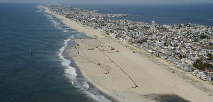 Beach replenishment at Long Beach Island, N.J. Great Lakes Dredge & Dock Company photo.