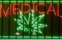 A sign advertising medical marijuana in California. Creative Commons photo by Photohound.