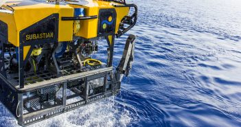 The ROV SuBastian during sea trials. Schmidt Ocean Institute photo.