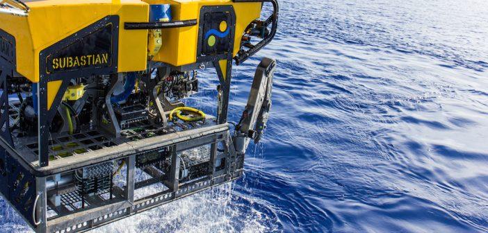 The ROV SuBastian during sea trials. Schmidt Ocean Institute photo.