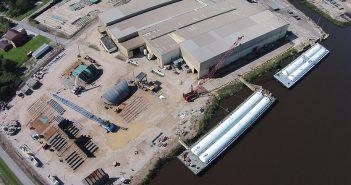 Conrad Orange shipyard, one of five Conrad shipyards located along the Louisiana-Texas Gulf Coast. Conrad photo.