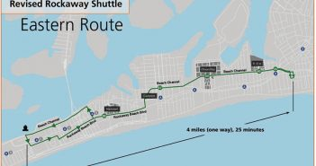 A New York EDC map shows the Citywide Ferry-shuttle route to the Rockaways.