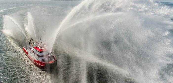 The Vigor-built Fireboat 3 for the San Francisco Fire Department. Vigor photo.