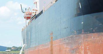 A vessel discharging ballast water. Photo: Maritime Environmental Resource Center.