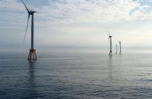 The Deepwater Wind power array off Block Island. Deepwater Wind photo.