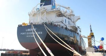 The Jones Act tanker Liberty. NASSCO photo.