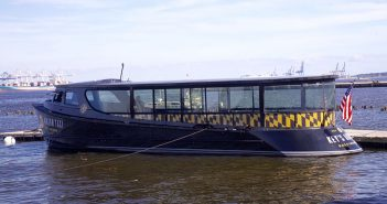 Key's Anthem, one of 10 new water taxis for Baltimore. Kathy Bergren Smith photo.