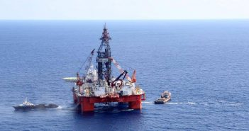 The semisubmersible La Muralla IV in the Gulf of Mexico. Pemex photo.