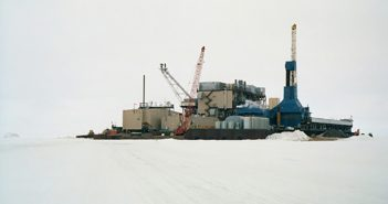 The man-made Northstar Island serves as an oil drilling and production facility in the Beaufort Sea. BOEM photo.