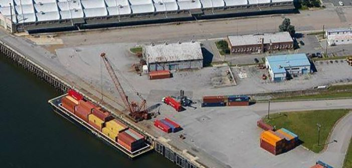 Virginia's Richmond Marine Terminal is home to the James River Barge Service, a weekly container-on-barge service from Hampton Roads to Richmond that provides a maritime alternative to Interstate-64. Port of Virginia photo.