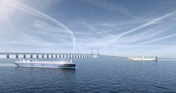 A Rolls-Royce rendering of autonomous vessels. Image courtesy Rolls-Royce.