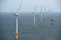 Statoil's Sheringham Shoal wind farm off the British coast. Statoil photo.