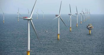 Statoil's Sheringham Shoal wind farm off the British coast. Statoil photo.