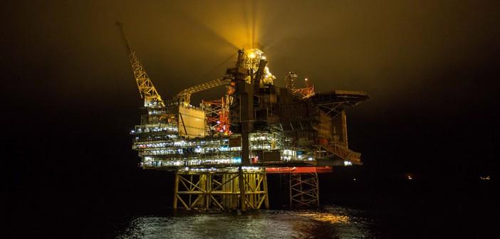 Statoil's Gina Krog platform in the North Sea. Øyvind Torjusen/Statoil photo.