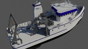 JMS designed the new vessel to operate as an uninspected research vessel. JMS image