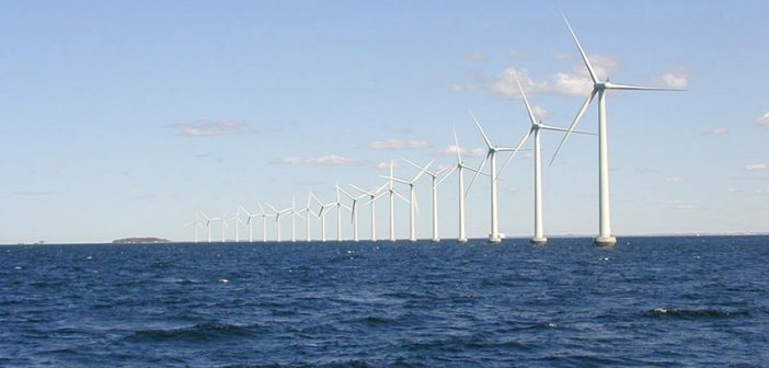 The Middlegrunden wind farm offshore Denmark. Department of Energy photo.