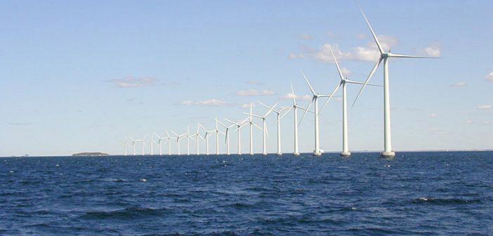 The Middlegrunden wind farm offshore Denmark. Department of Energy photo.