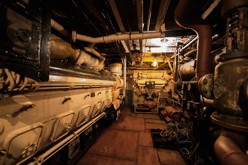 A view of the Yankee's engine room. Photo courtesy Franklin Ruttan Brokers.
