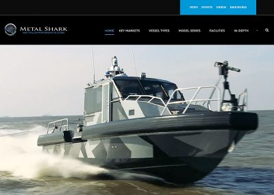 High-quality photos and videos are hallmarks of Metal Shark Boats' newly redesigned website.