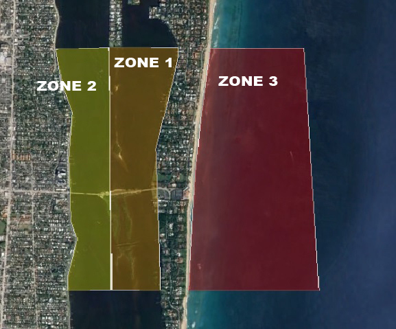 Security zones in vicinity of the Mar-a-Lago Club in Florida have been established during presidential visits to the Palm Beach area. U.S. Coast Guard photo illustration.