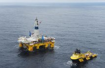 The drilling rig Polar Pioneer in the Skrugard field in the Barents Sea. Statoil photo by Harald Pettersen.