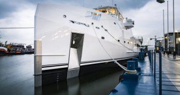 New 227' yacht support vessel from Damen Shipyards. Damen Shipyards image.
