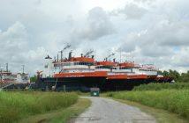 Stacked PSVs in Louisiana, August 2016. Ken Hocke photo.