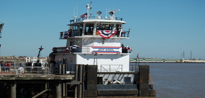 New towboat is named for ACBL's vice president, Gulf Operations, Jeff Kindl. Ken Hocke photo.