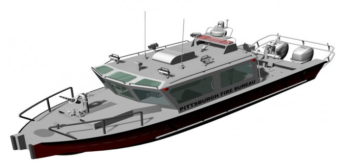 Pittsburgh is paying Lake Assault Boats $540,000 to build the city a new fireboat. Lake Assault Boats image.