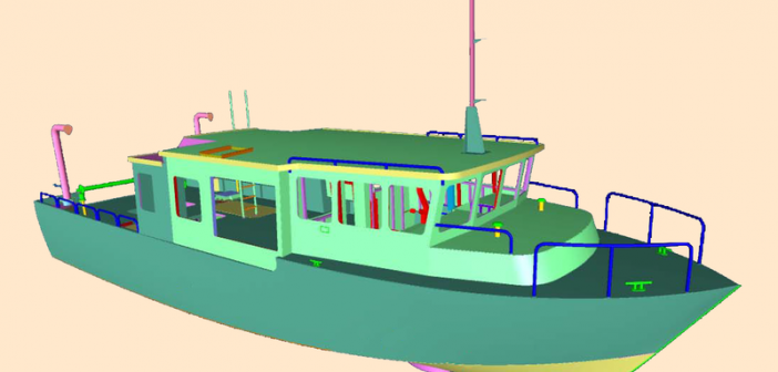 New fisheries research vessel is scheduled to be delivered in October 2017. Moran Iron Works image