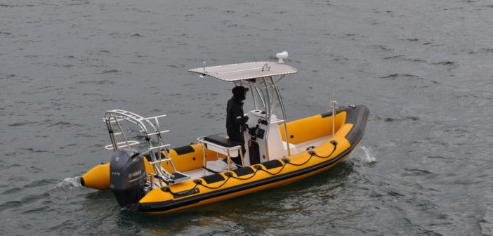 New 21' Ribcraft patrol boat for sheriff's office in North Carolina. Ribcraft photo.