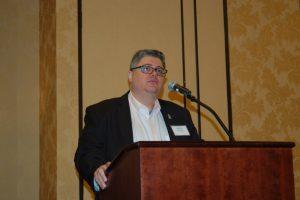 Richard Sanchez at the quarterly OMSA meeting. Ken Hocke photo