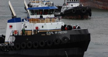 The 120'×35'×19'3″, 5,350-hp Tier 4 tug Earl W Redd. Harley Marine photo.