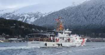 The Coast Guard Fast Response Cutter John McCormick arrived at its new homeport at Ketchikan, Ak. March 16, 2017.