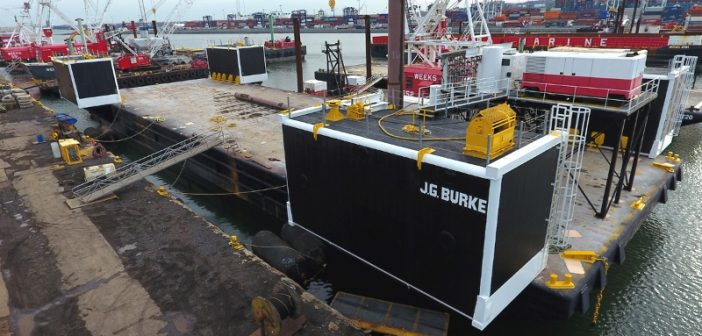 Built to sink new semisubmersible caisson launch barge for Caisson maritime