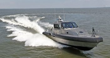 A Metal Shark 45' Defiant model patrol boat. Metal Shark photo.