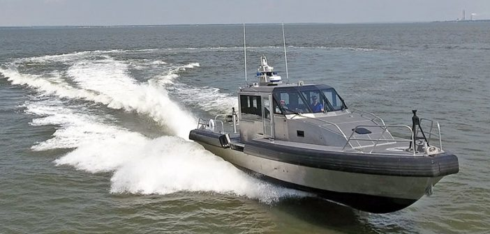 A Metal Shark 45' Defiant model patrol boat. Metal Shark photo.