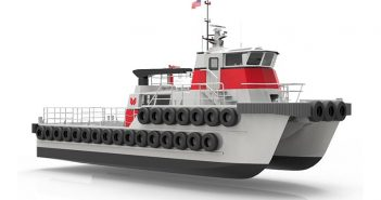 The exact number of 75' aluminum crewboats Moose Boats is building for Westar Marine has not been released. Moose Boats image
