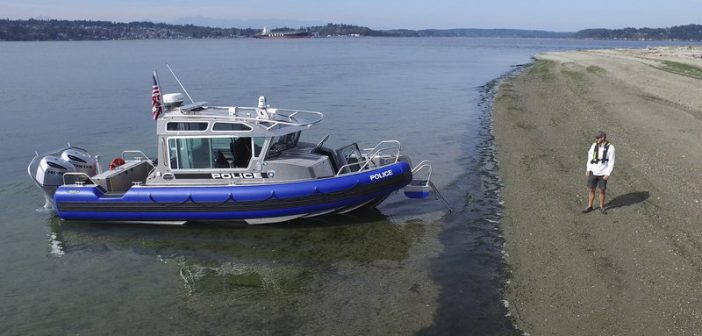 Full cabin patrol boat for North Carolina. Life Proof Boats photo